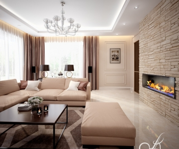 Дизайн дома, Гостиная 4