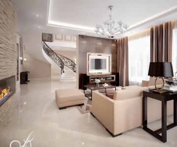 Дизайн дома, Гостиная 6