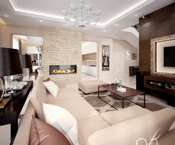 Дизайн дома, Гостиная 5