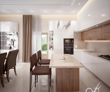 Дизайн дома, кухня 1