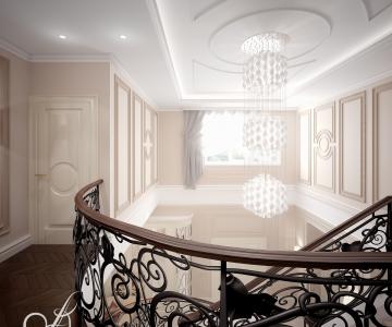 Дизайн дома, Холл 2 этаж 1