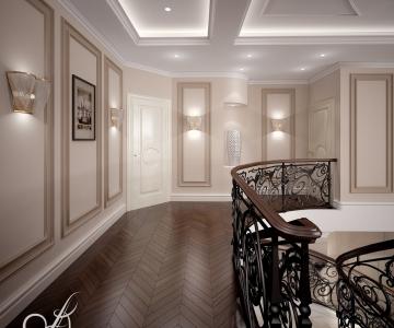 Дизайн дома, Холл 2 этаж 3